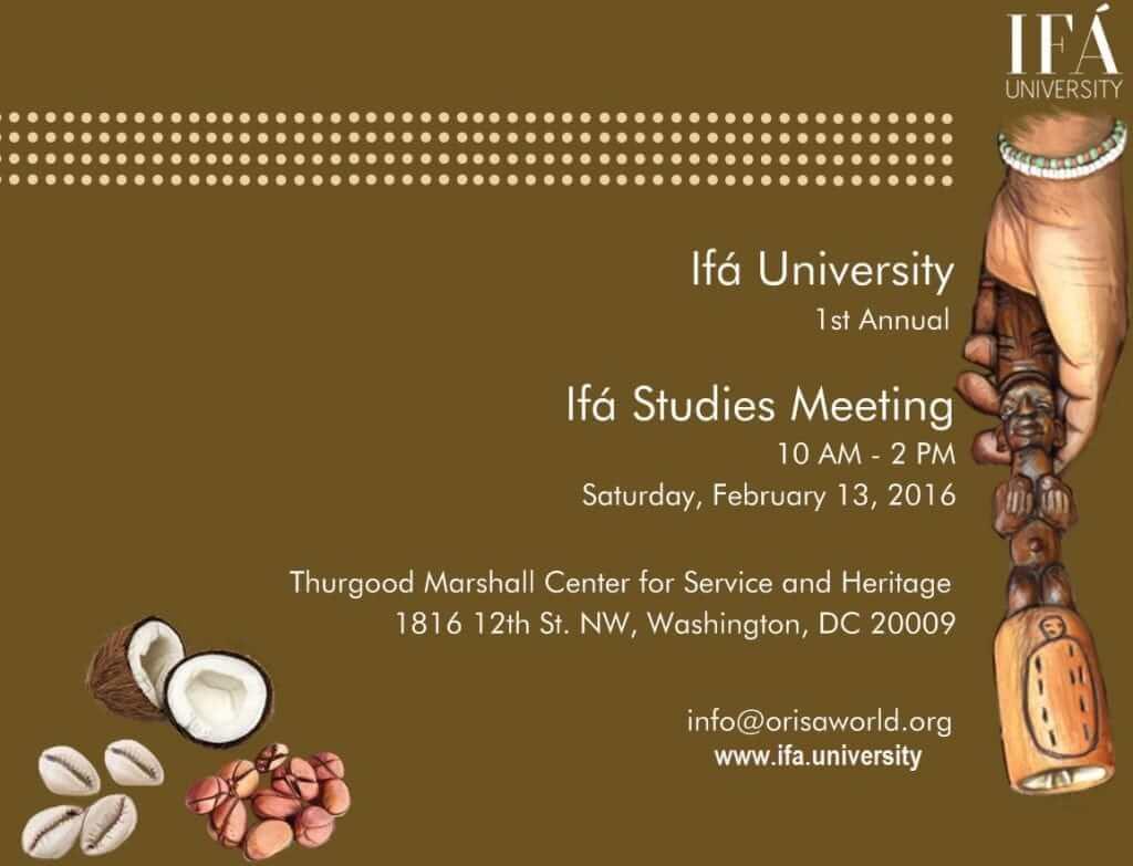 2016 Ifa University Meeting