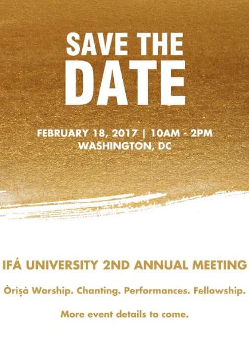 2017 Ifa University Meeting