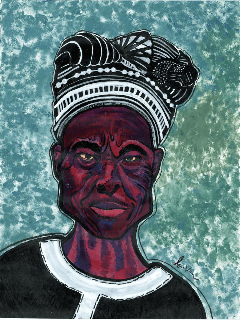 Awo Ifátóògùn - Painting by Asia